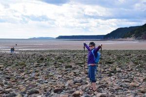 Anne Townley at the beach