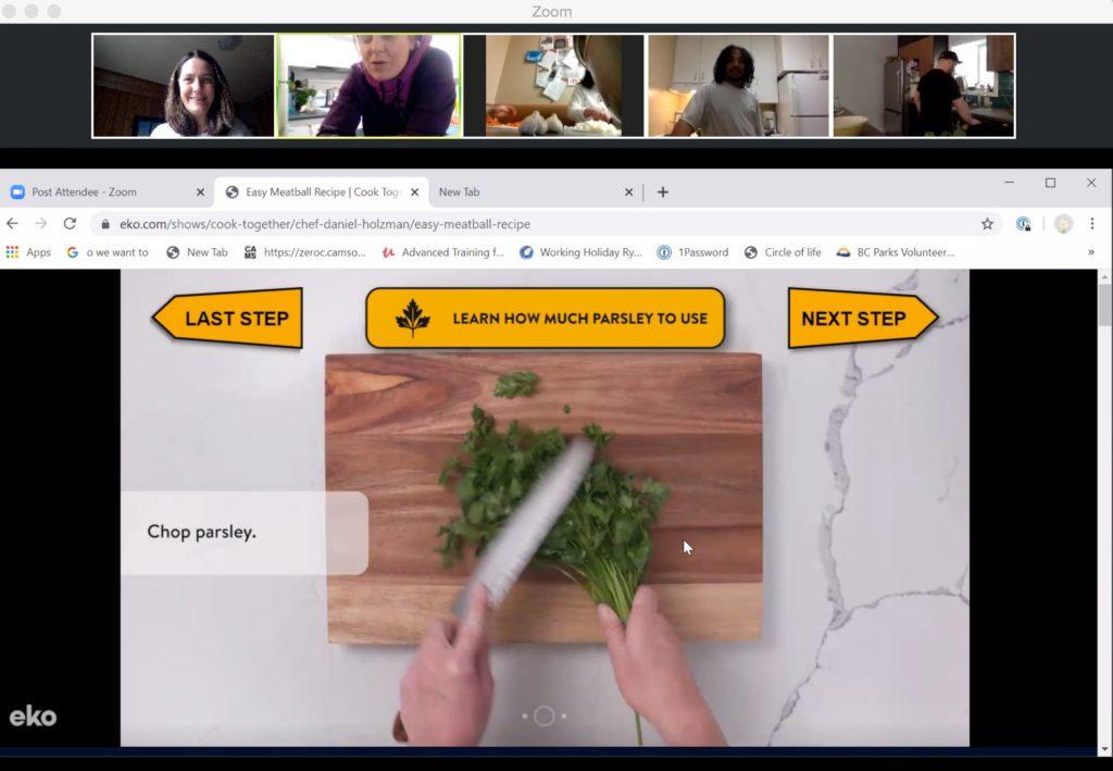Work2Live Program Virtual Family Dinner